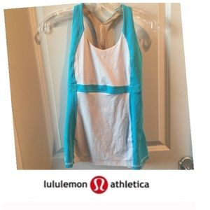 Lululemon Blue & White Tank